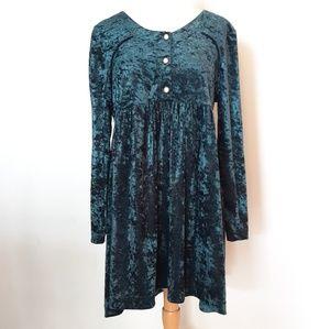Vintage 90s Crushed Velvet Babydoll Dress